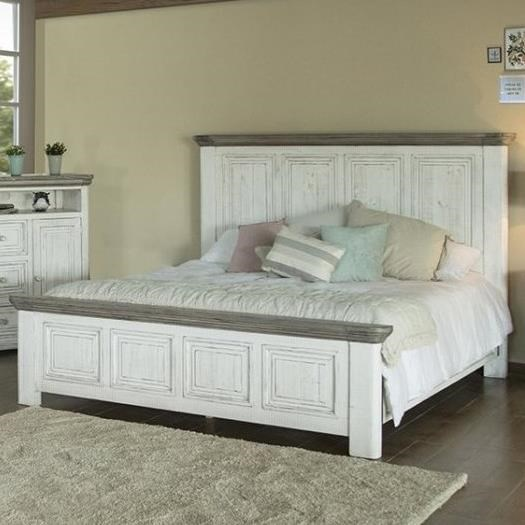 768 Luna California King Panel Bed by International Furniture Direct at Furniture and ApplianceMart