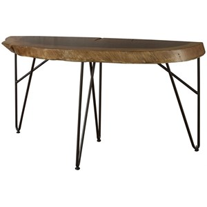 Industrial Live Edge Solid Wood Sofa Table