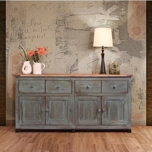 Console with Distressed Finish