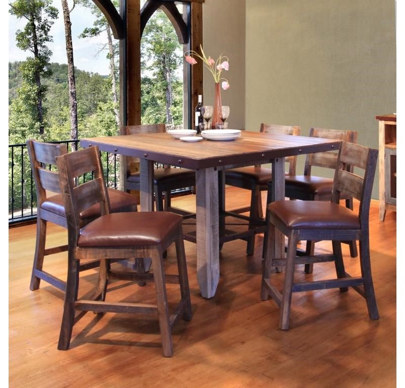 Counter Height Table and 8 Barstools Set