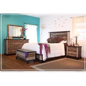 King Platform Bed, Dresser, Mirror and 2 Nightstands Package
