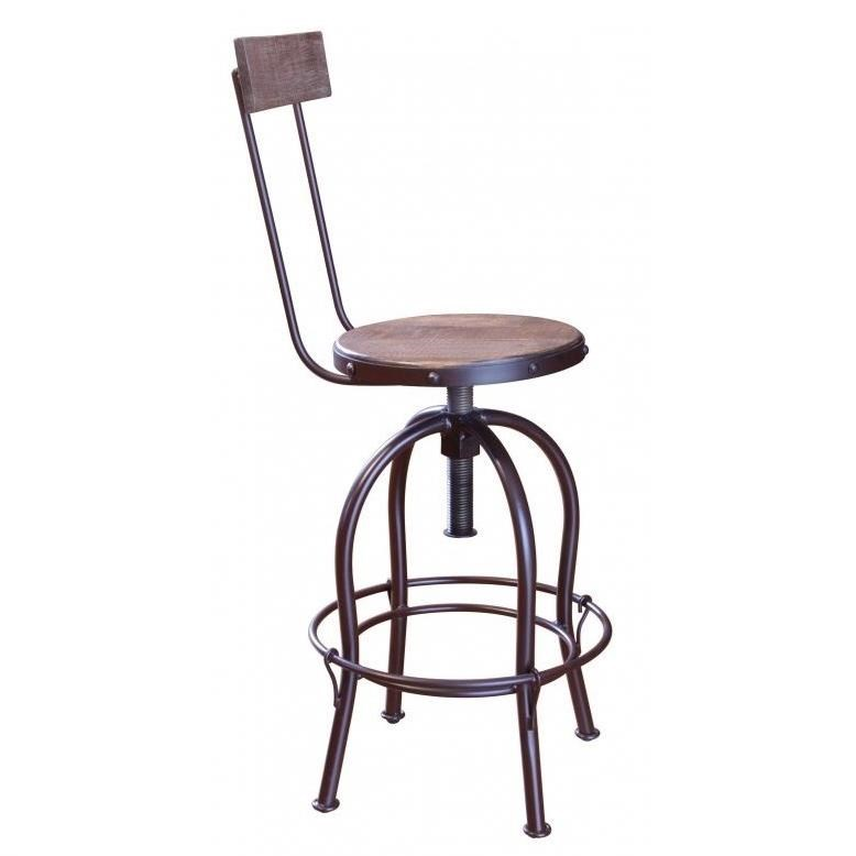 "900 Antique 24""-30"" Adjustable Counter Stool by International Furniture Direct at Furniture Superstore - Rochester, MN"