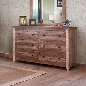 International Furniture Direct 900 Antique Dresser