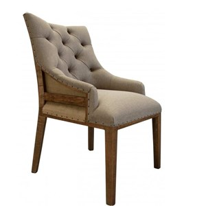 Transitional Tufted Chair with Deconstructed Backrest