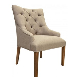Transitional Tufted Chair with Regular Backrest
