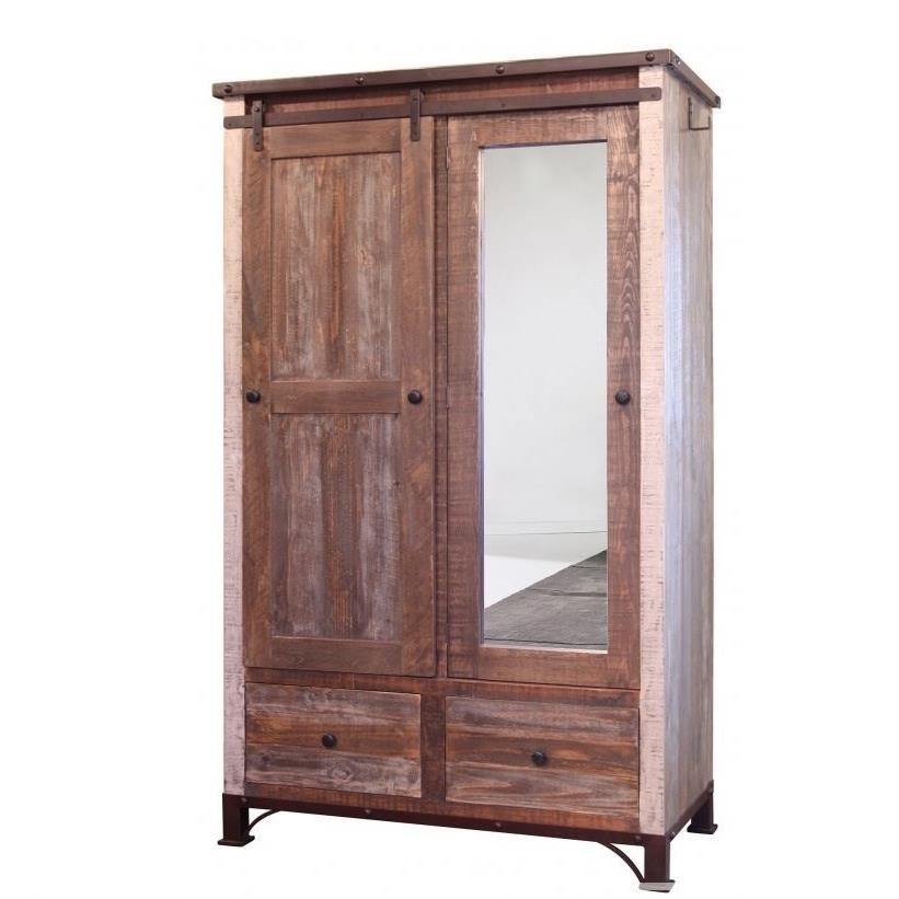 900 Antique Armoire by International Furniture Direct at Goffena Furniture & Mattress Center