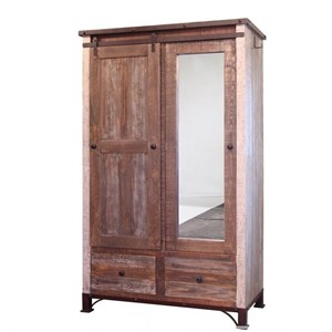 International Furniture Direct 900 Antique Armoire