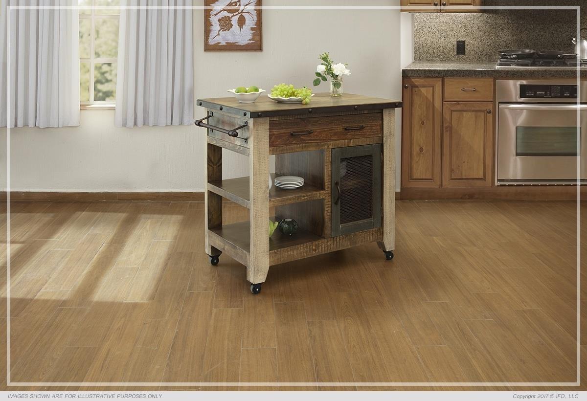 900 Antique Kitchen Island by International Furniture Direct at Westrich Furniture & Appliances