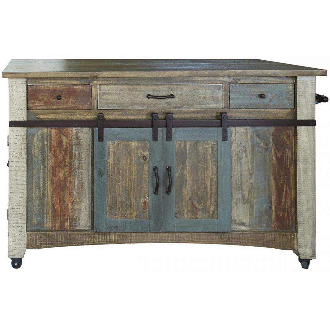 900 Antique Kitchen Island by International Furniture Direct at Catalog Outlet