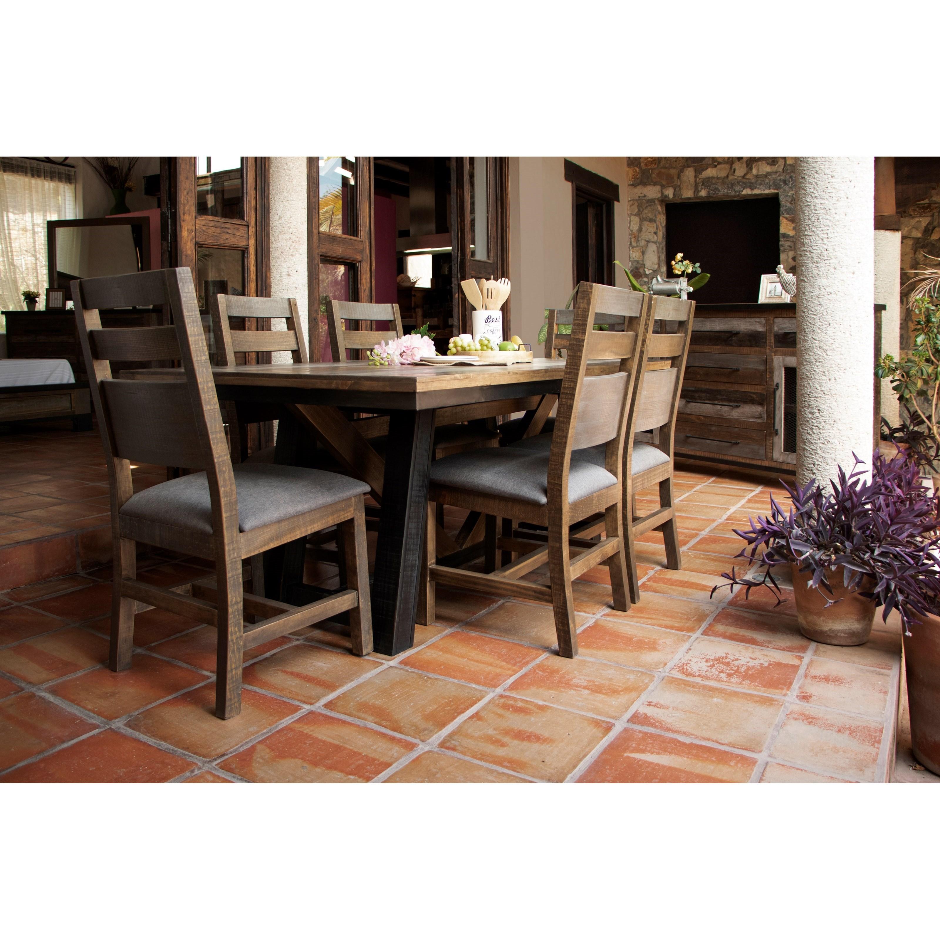 Antique Dining Set by International Furniture Direct at Catalog Outlet