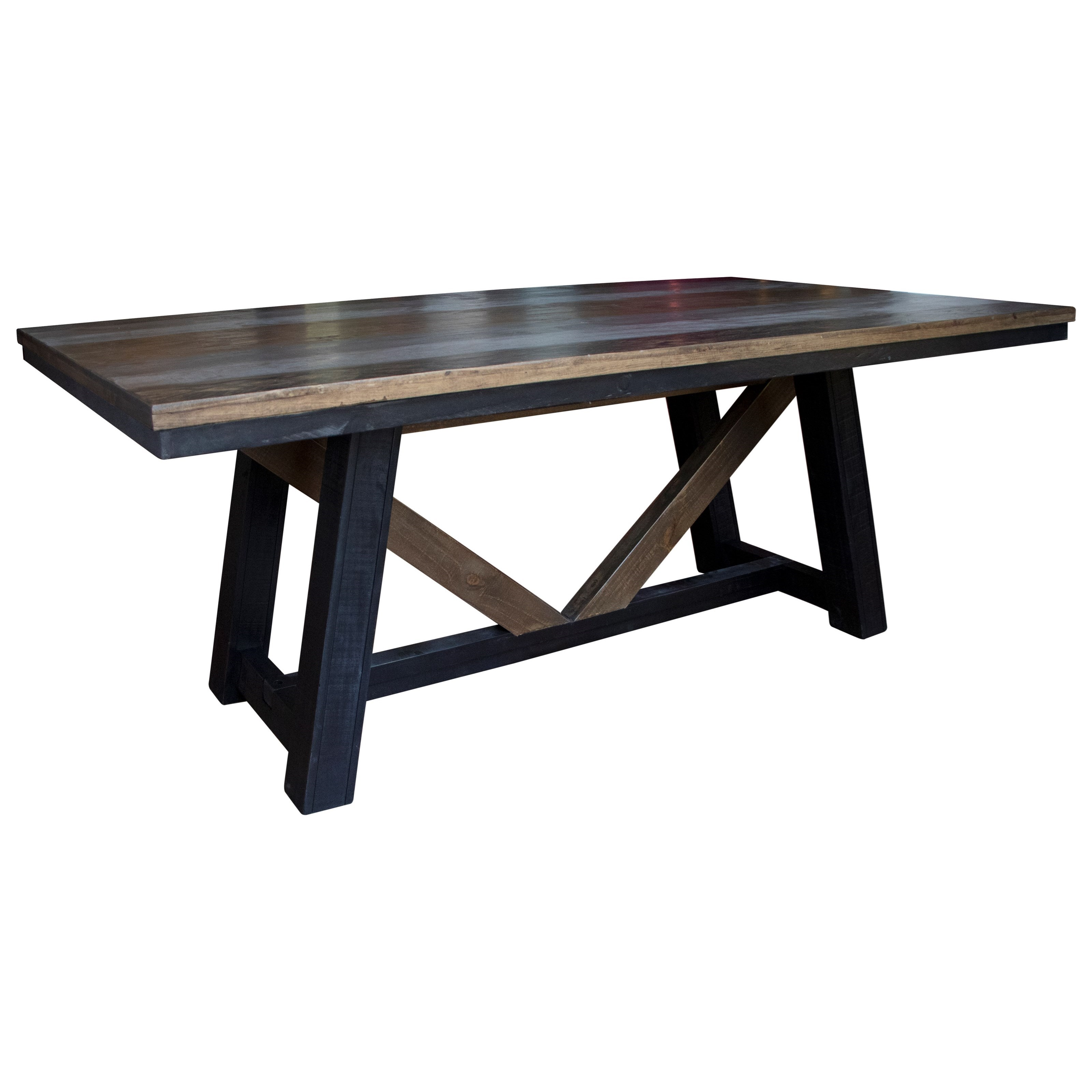 Antique Dining Table by International Furniture Direct at Westrich Furniture & Appliances