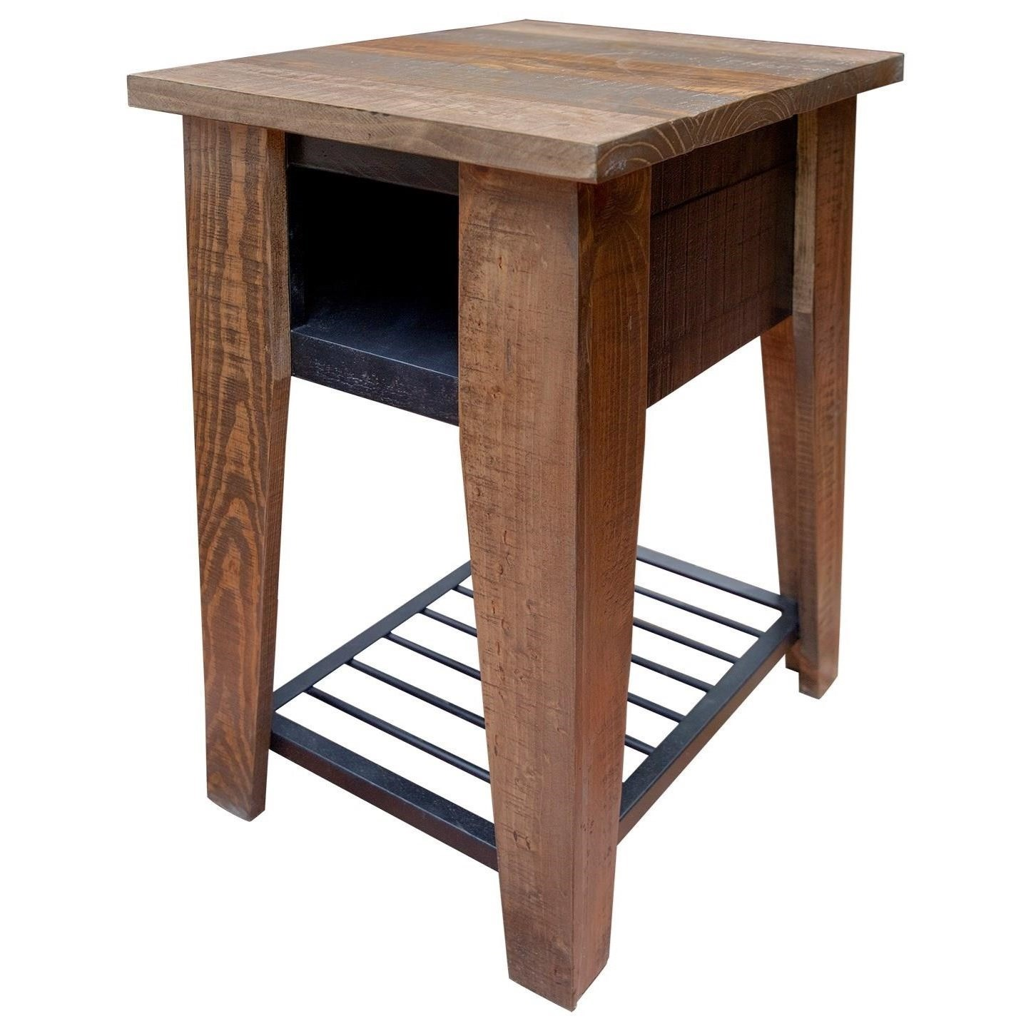 Agave Chair Side Table by International Furniture Direct at Catalog Outlet