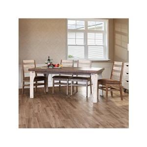 7 Piece Rectangular Dining Room Table and 6 Ladder Back Side Chairs Set