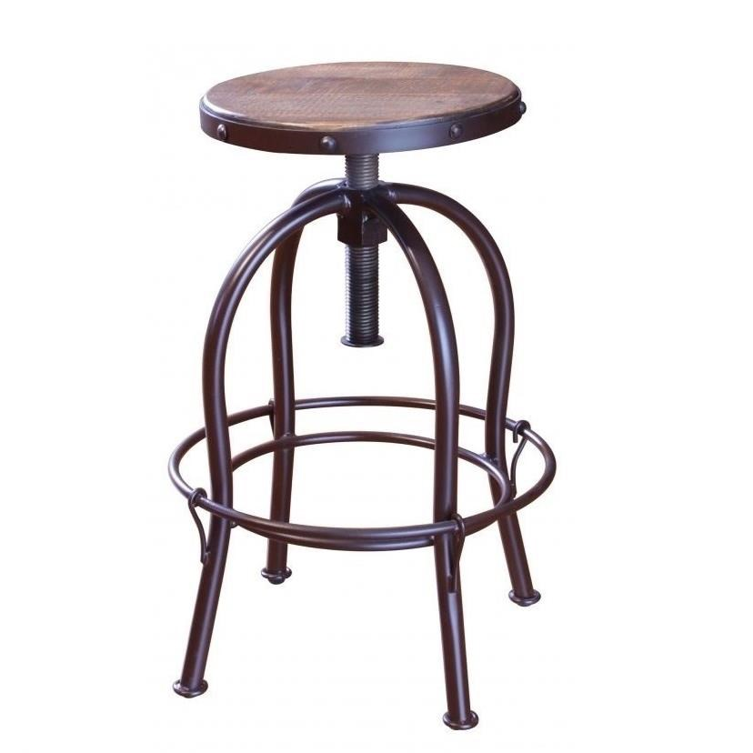 Antique 963 Adjustable Height Swivel Stool by International Furniture Direct at Catalog Outlet