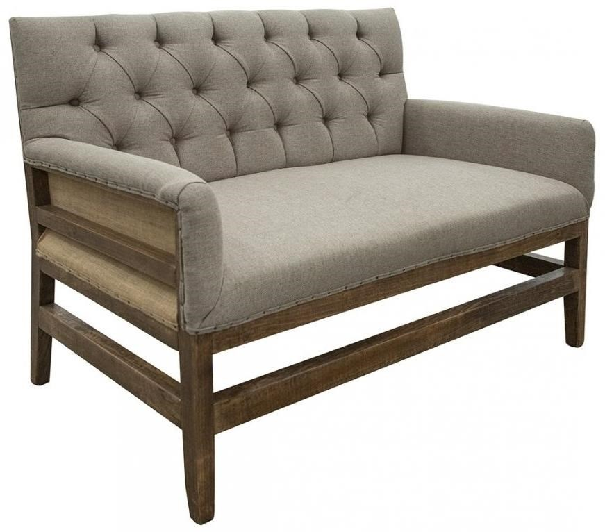 Antique Tufted Loveseat w/ Deconstructed Backrest by International Furniture Direct at Turk Furniture