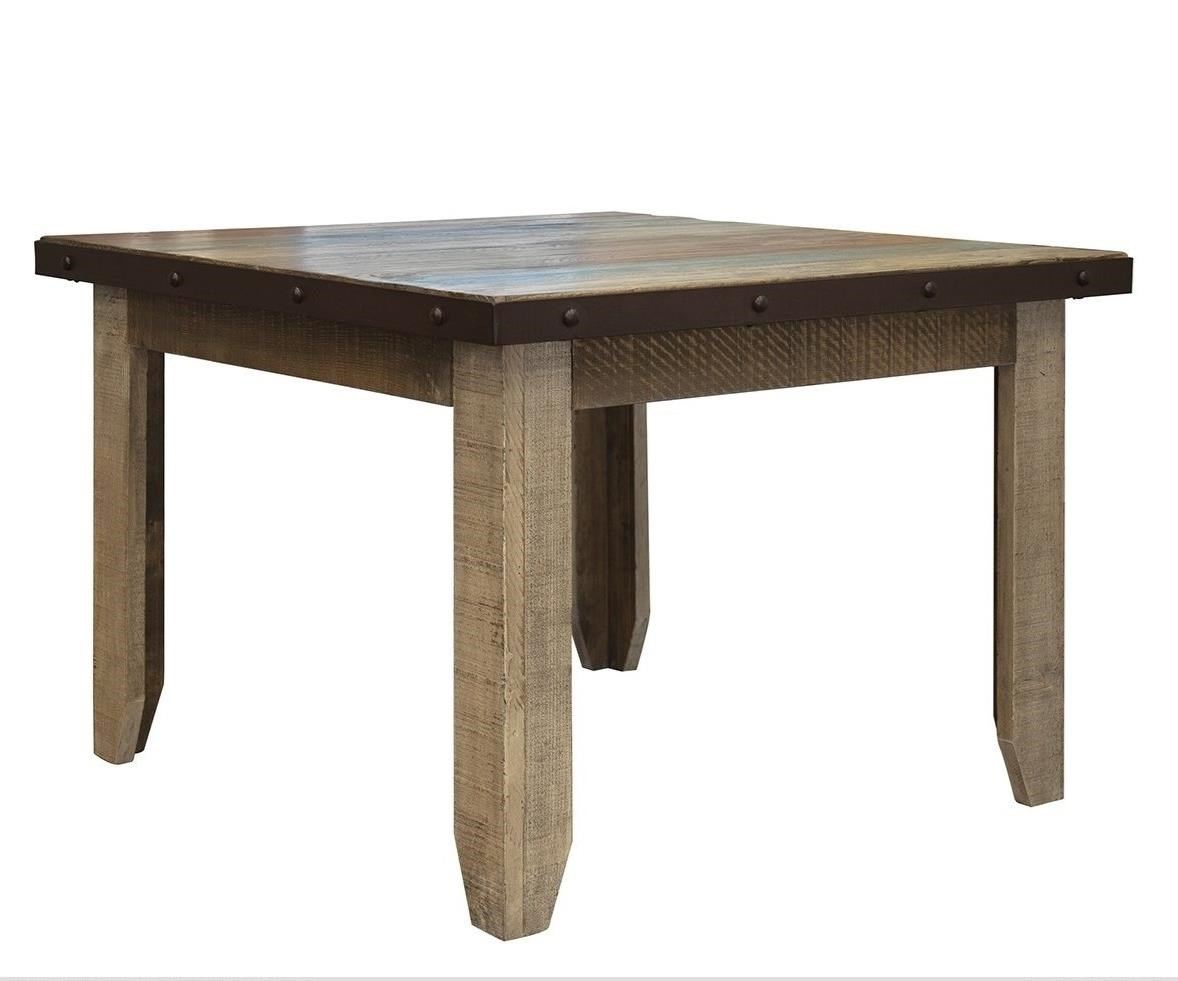 """Antique 42"""" Dining Table by International Furniture Direct at Catalog Outlet"""