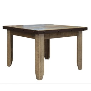 """Rustic Solid Wood Square 42"""" Dining Table"""