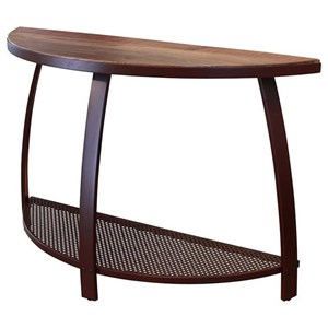 International Furniture Direct Antique Iron Sofa Table w/1 Iron Shelf