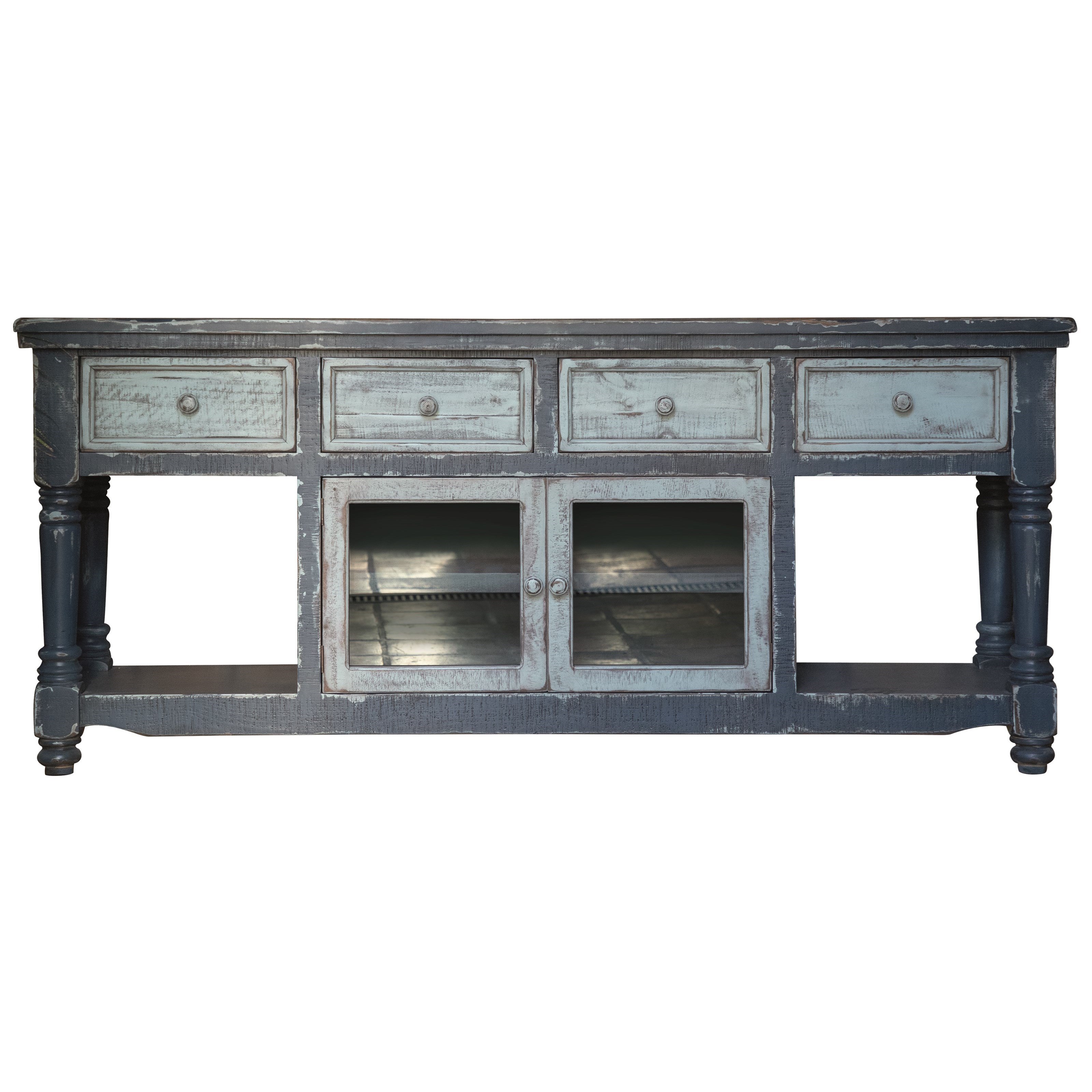 """Aruba 70"""" TV Stand with 4 Drawers and 2 Doors by International Furniture Direct at Houston's Yuma Furniture"""