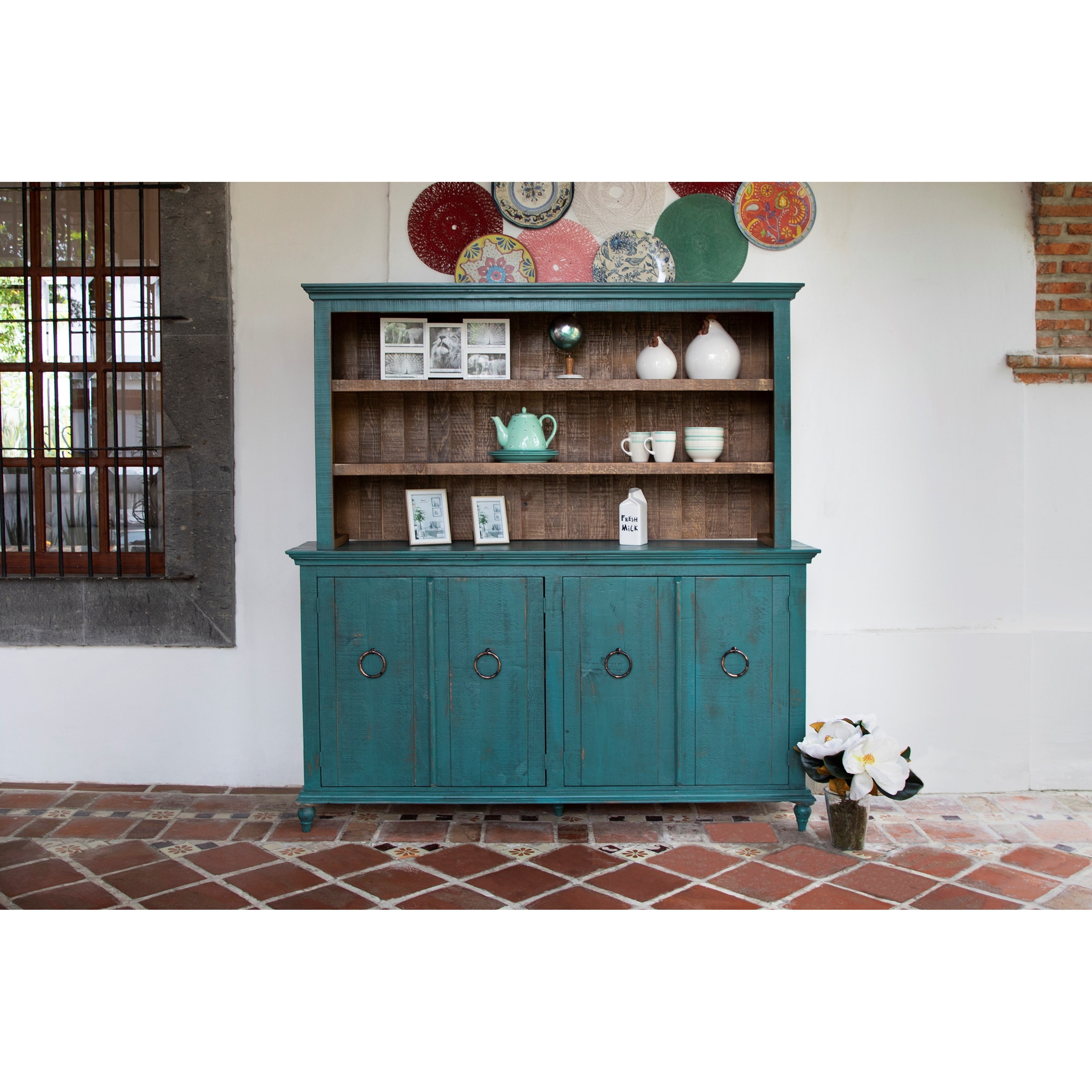 Capri Console and Hutch Set by International Furniture Direct at Furniture and ApplianceMart