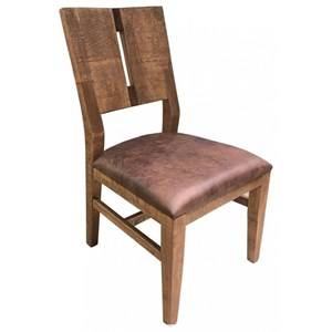Transitional Solid Wood Chair with Fabric Seat