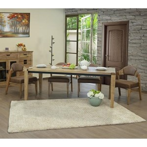 Rustic Solid Wood 5-Piece Table and Chair Set