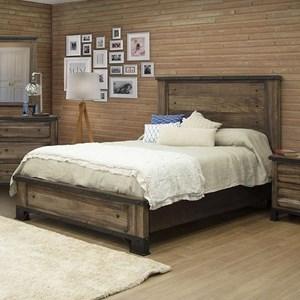 Industrial Queen Low-Profile Bed