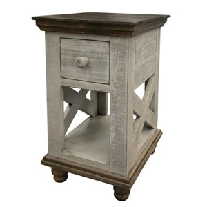 Relaxed Vintage 1-Drawer Chairside Table