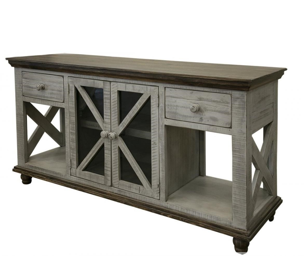 Florence 2-Drawer, 2-Door Sofa Table by International Furniture Direct at Sparks HomeStore