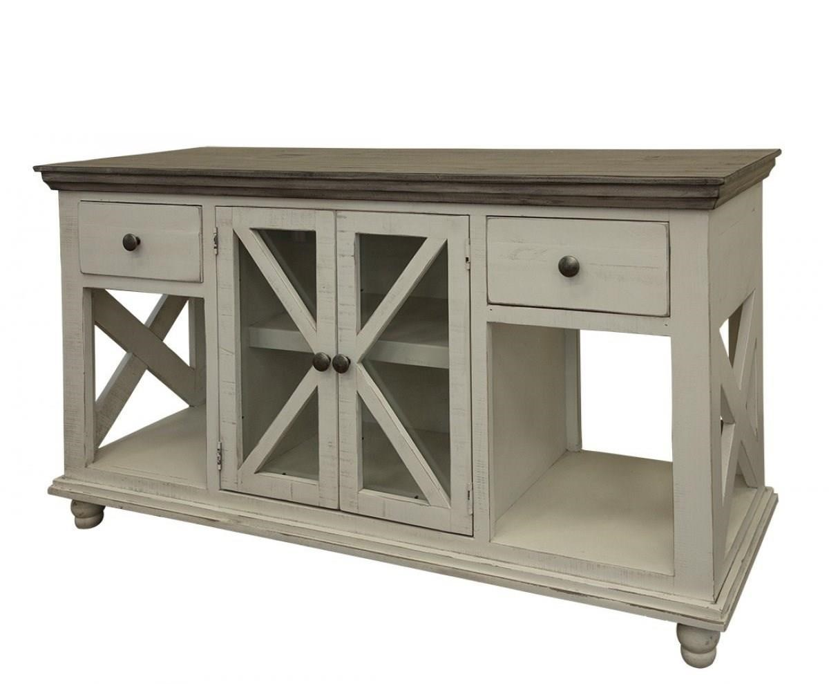 Florence 2-Drawer, 2-Door Sofa Table by International Furniture Direct at Zak's Home