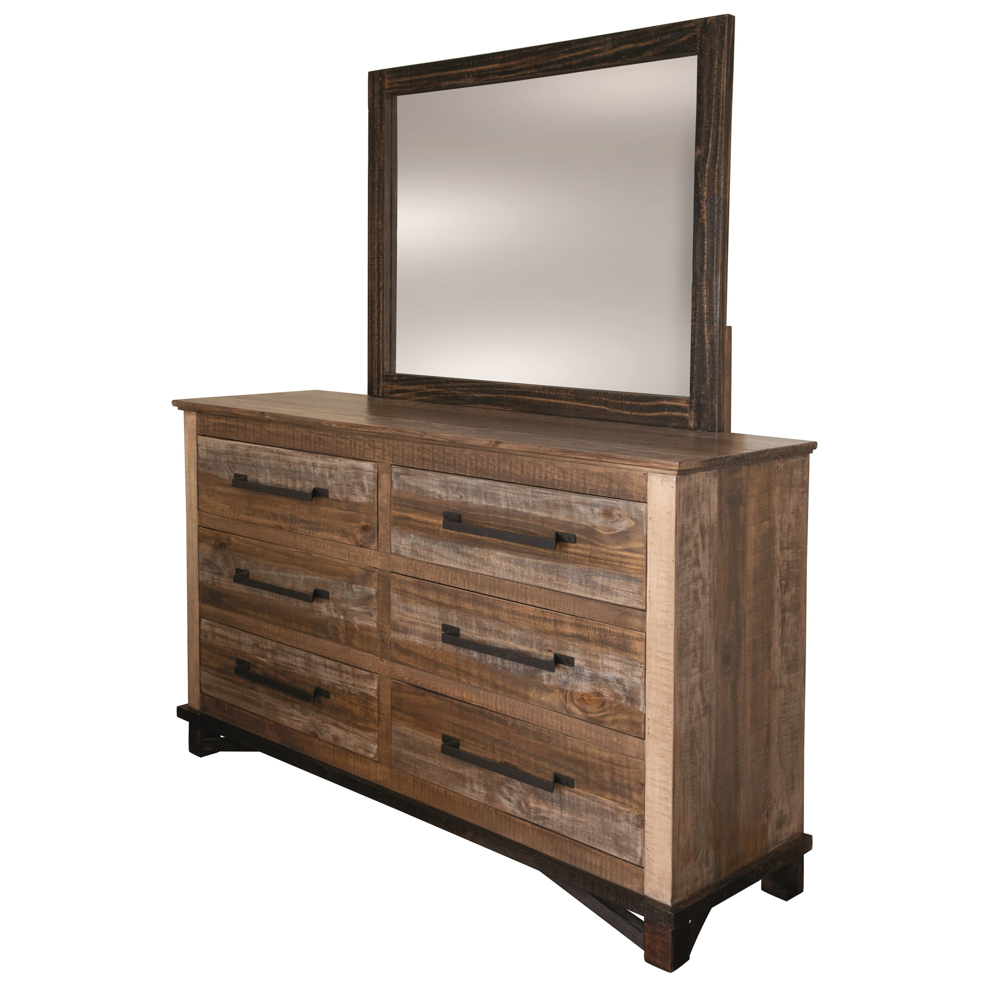 Golden Loft Dresser and Mirror by International Furniture Direct at Gill Brothers Furniture