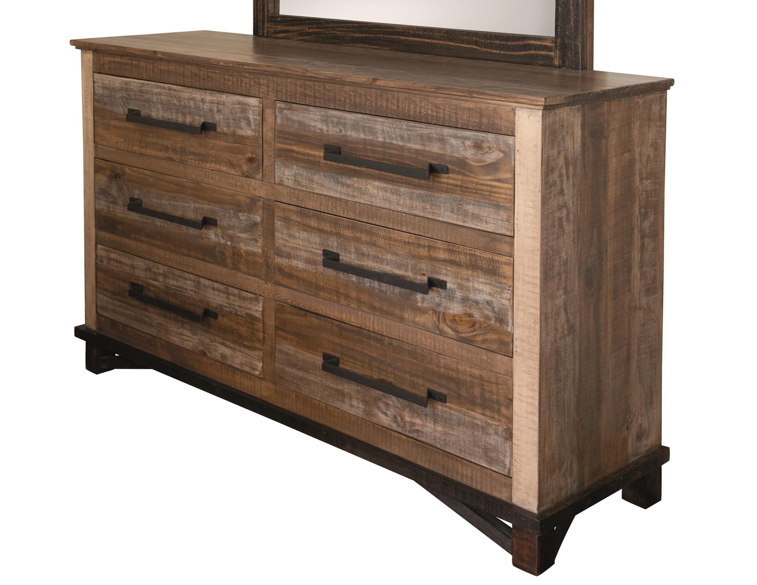 Golden Loft Dresser by International Furniture Direct at Zak's Home