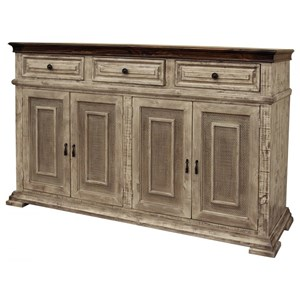 Rustic Solid Wood 3-Drawer and 4-Drawer Console