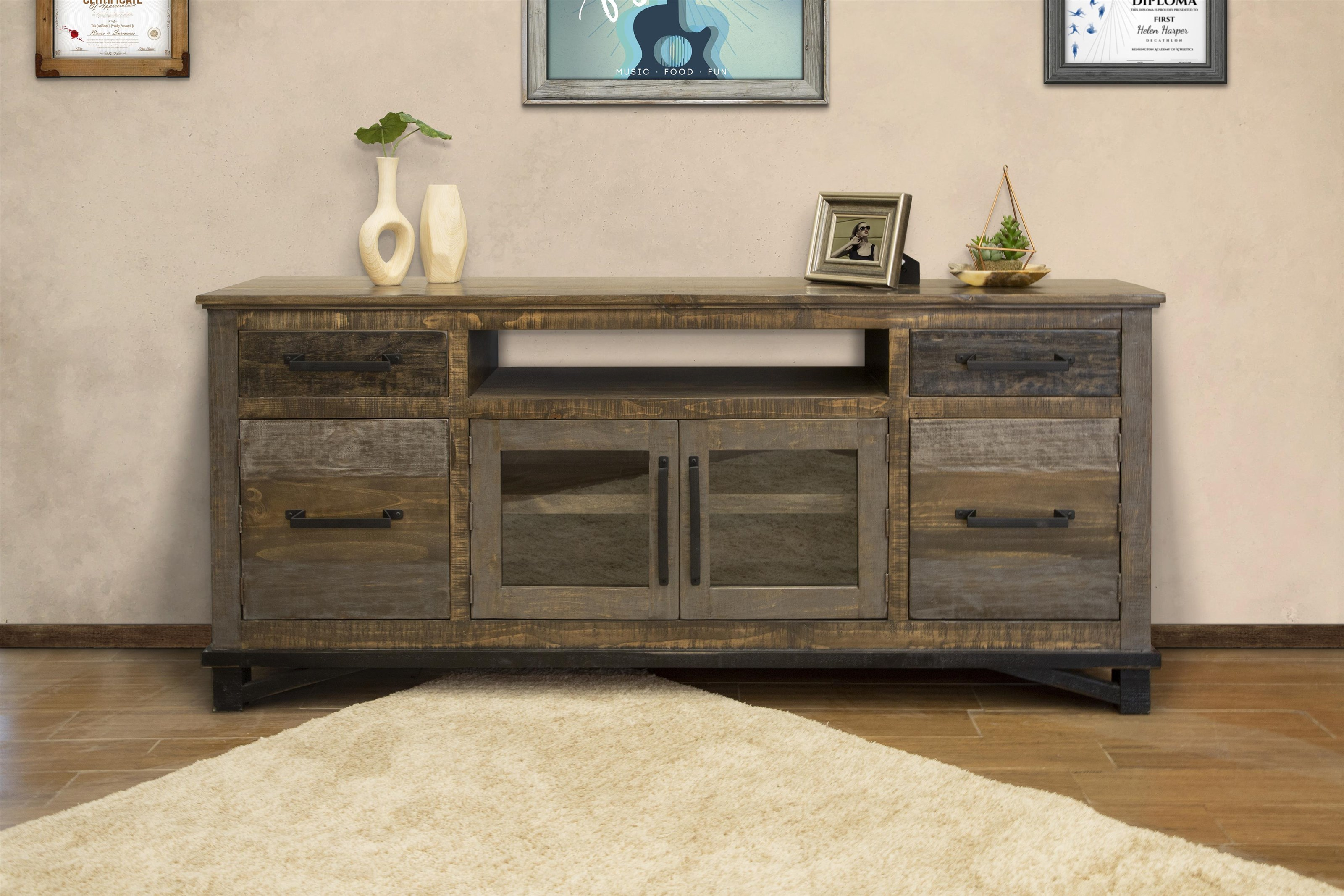 """Loft 76"""" TV Stand by Artisan at Bennett's Furniture and Mattresses"""