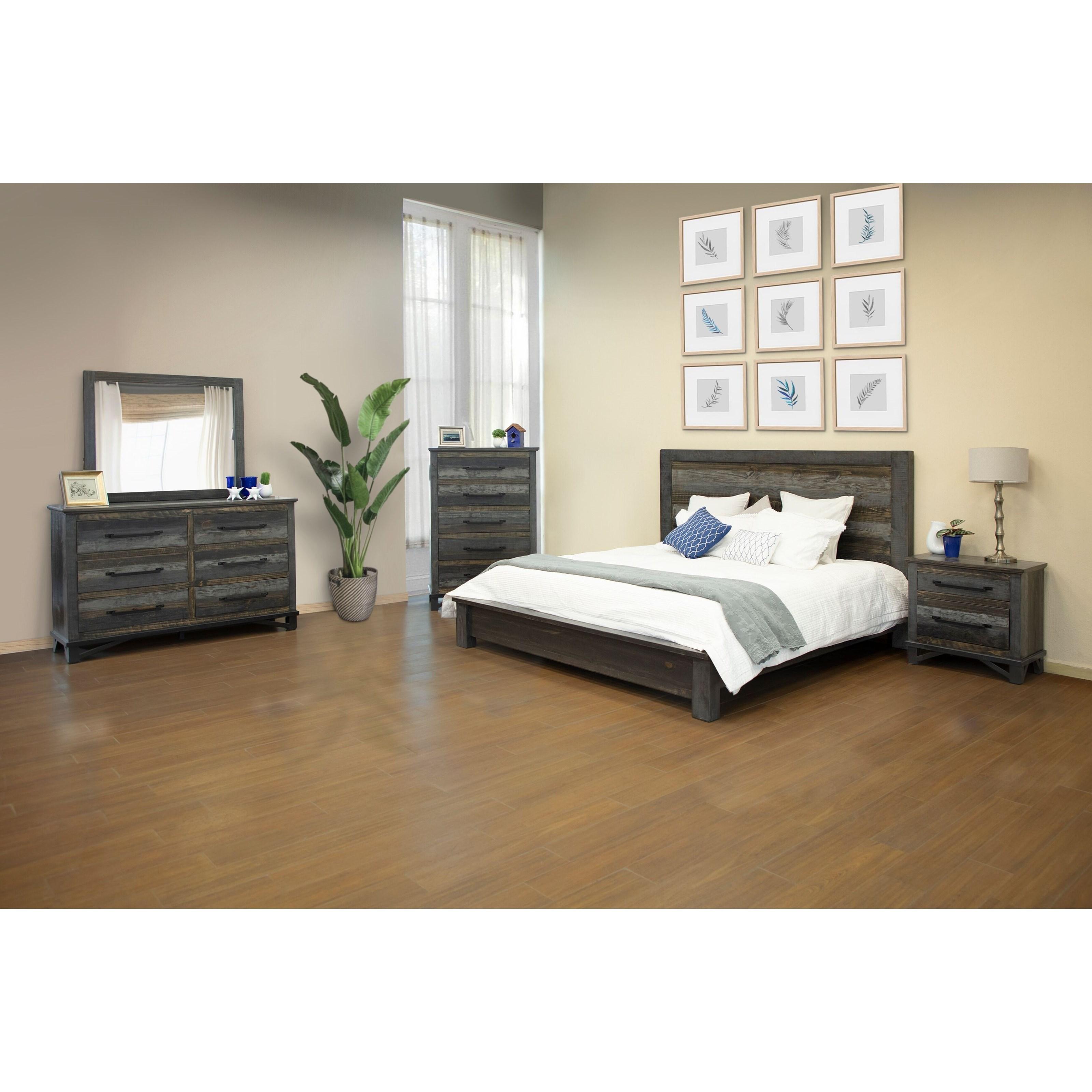 Loft California King Bedroom Group by International Furniture Direct at Houston's Yuma Furniture