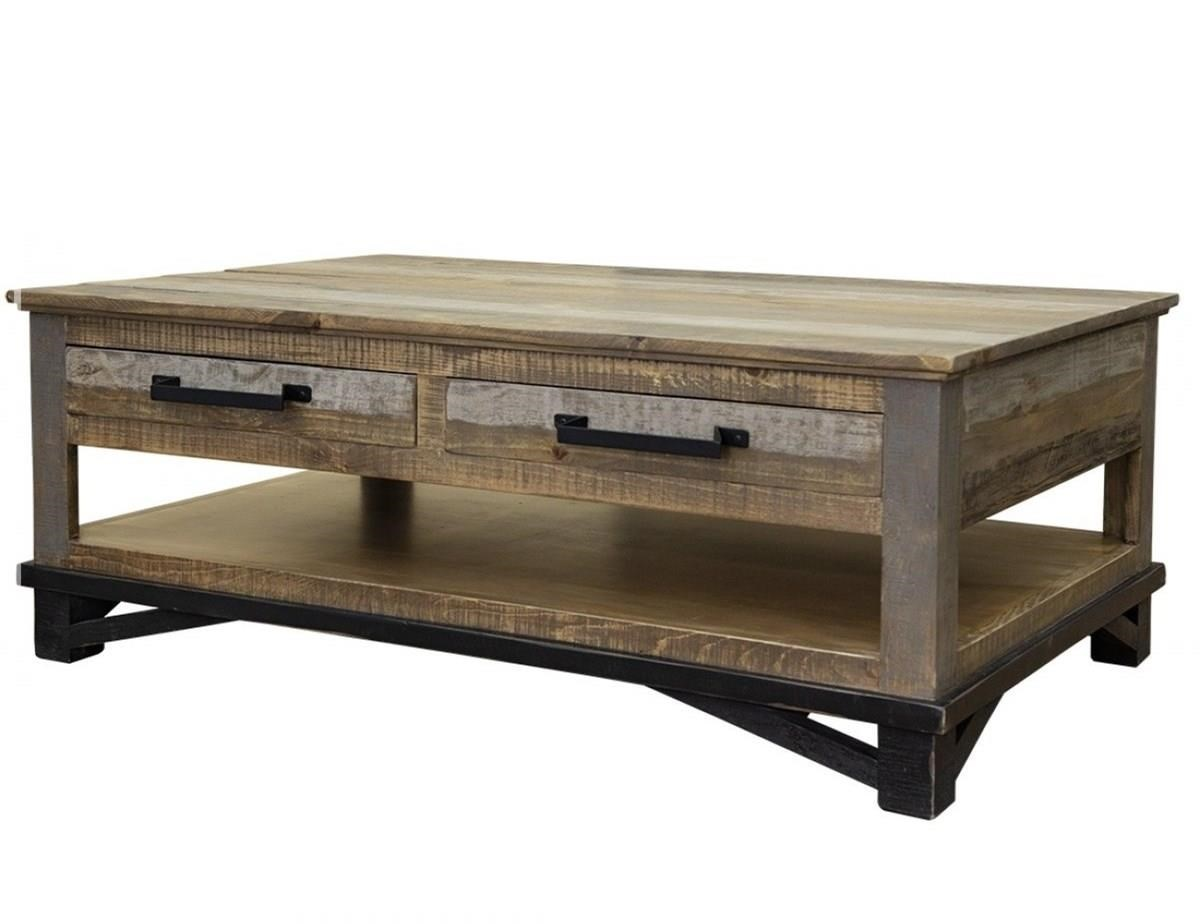 Loft Cocktail Table with 4 Drawers by International Furniture Direct at Darvin Furniture