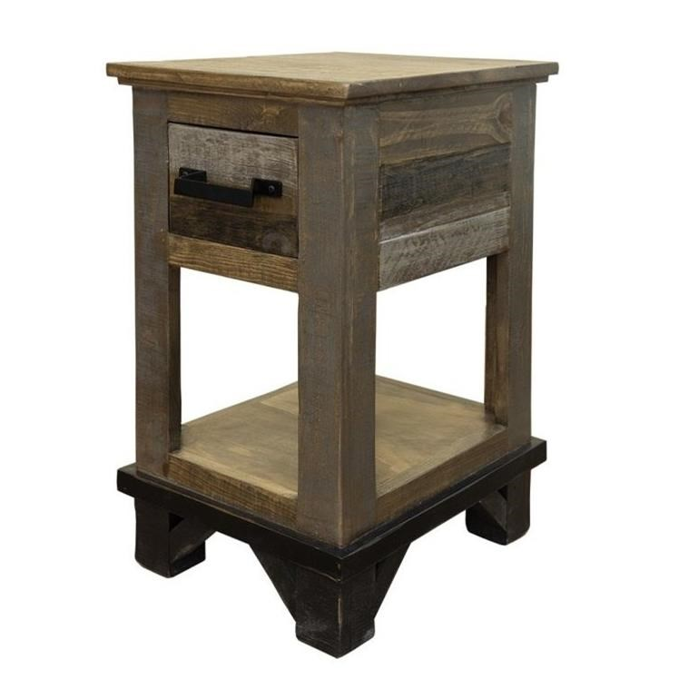 Loft Chairside Table with 1 Drawer by International Furniture Direct at Darvin Furniture