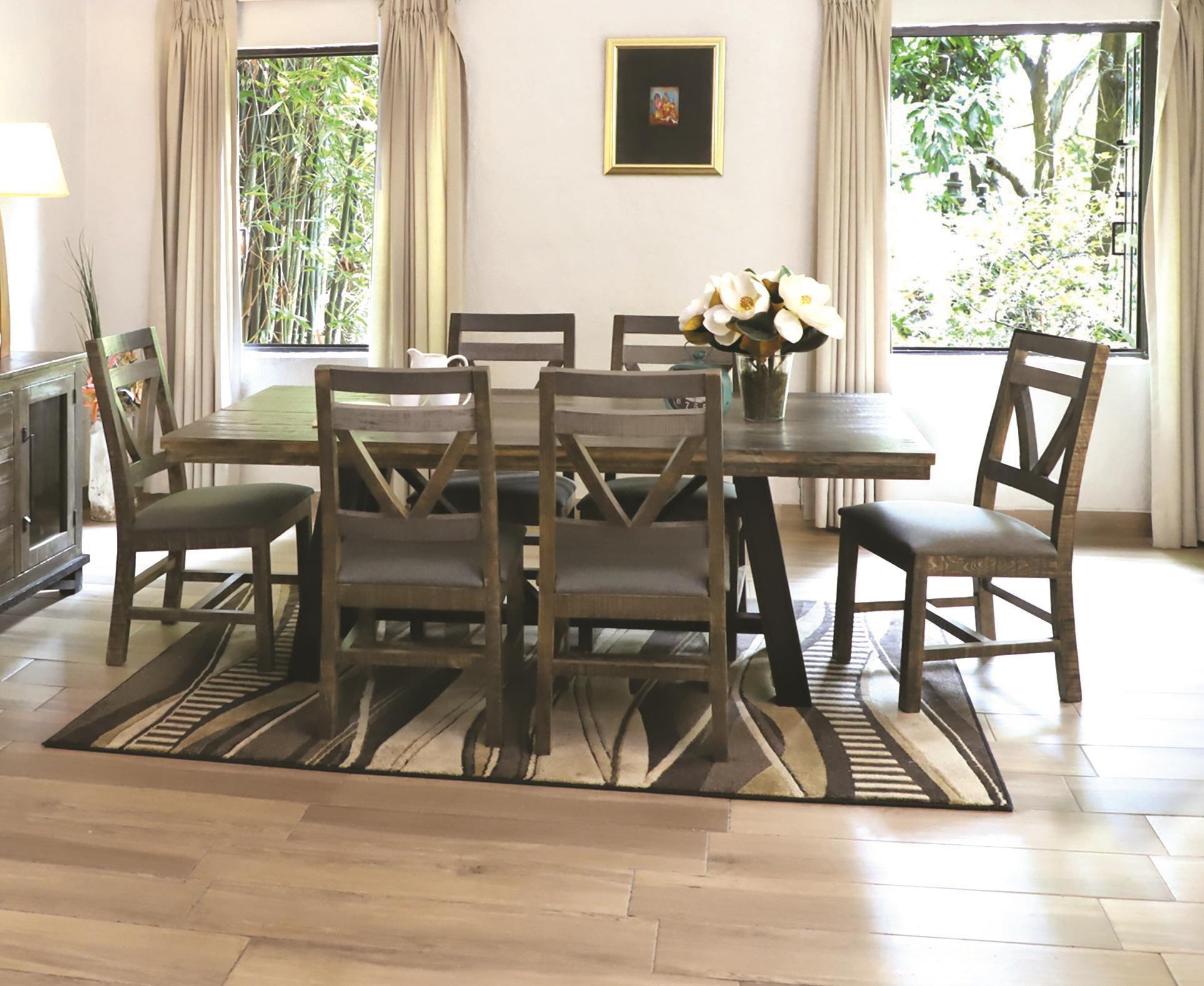 Loft 5 Piece Dining Set by International Furniture Direct at Darvin Furniture
