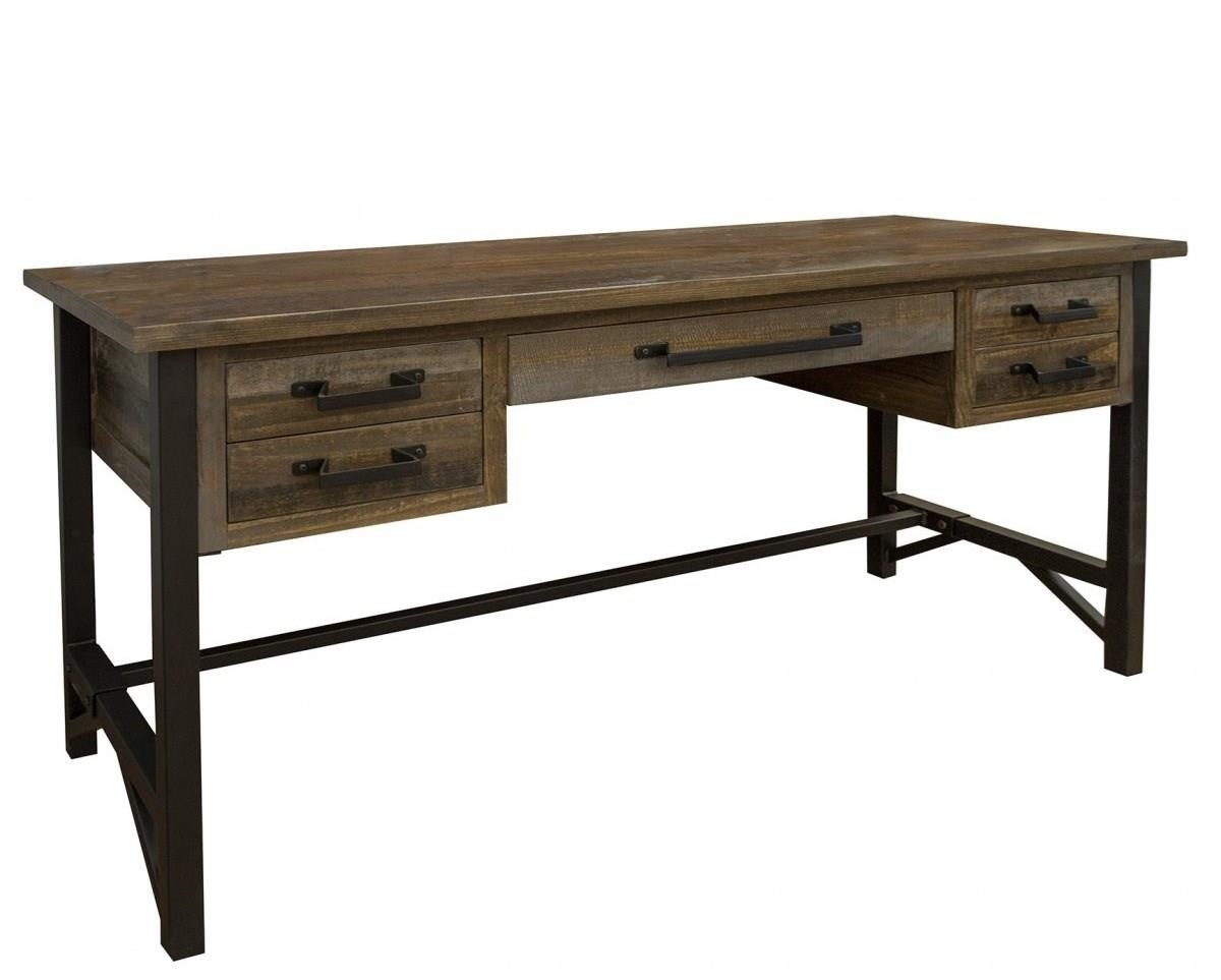 Loft 5 Drawer Desk by International Furniture Direct at Houston's Yuma Furniture
