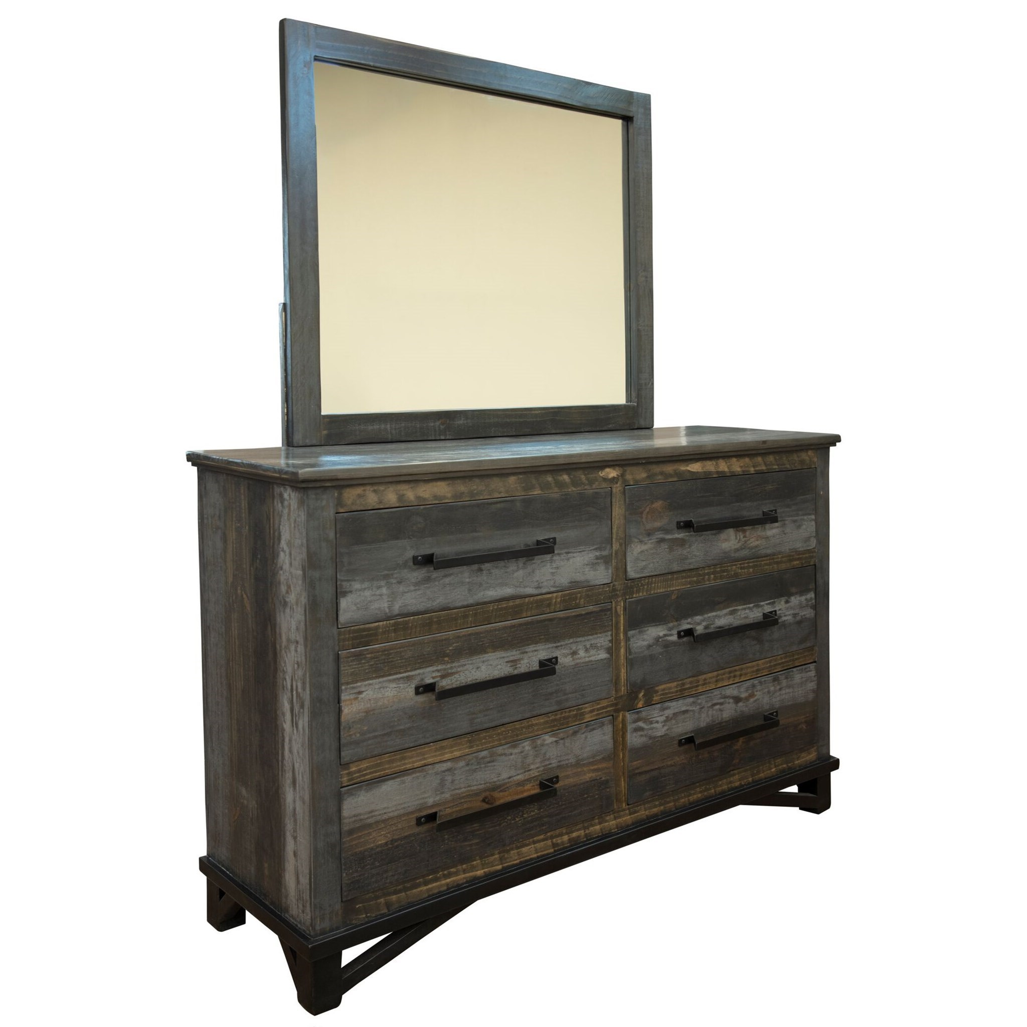 Loft Dresser and Mirror by International Furniture Direct at Darvin Furniture