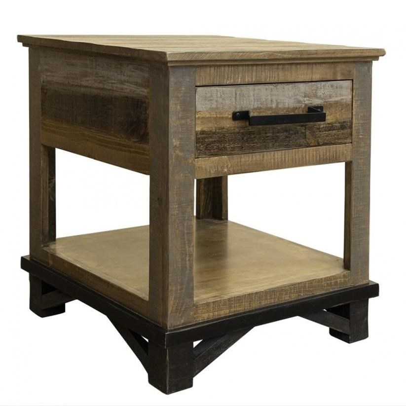 Loft End Table with 1 Drawer by International Furniture Direct at Gill Brothers Furniture