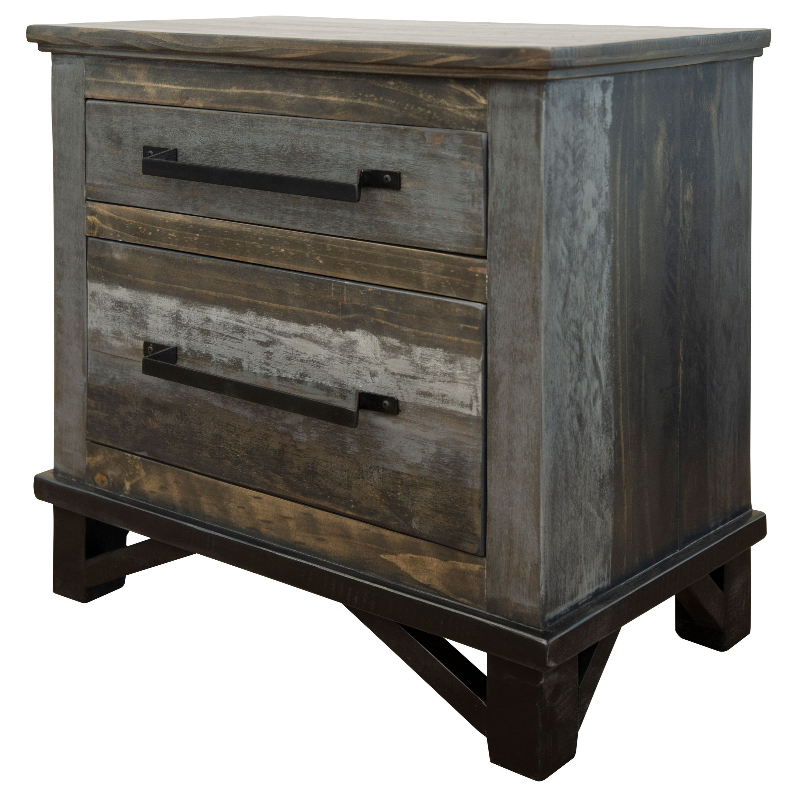 Loft 2 Drawer Nightstand by International Furniture Direct at Darvin Furniture