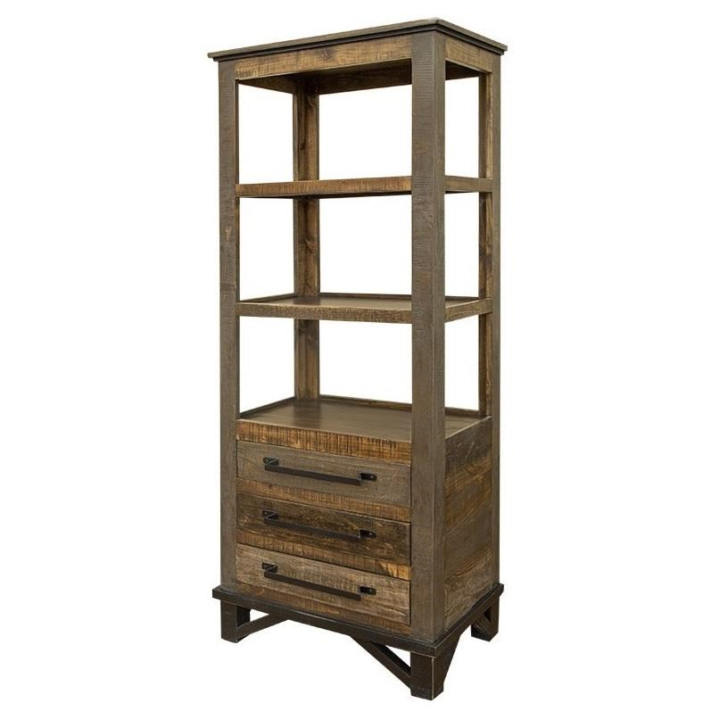 Loft Bookcase with 3 Drawers by International Furniture Direct at Darvin Furniture