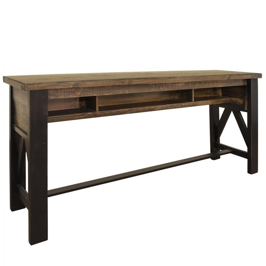 Loft Counter Height Sofa Table by International Furniture Direct at Darvin Furniture