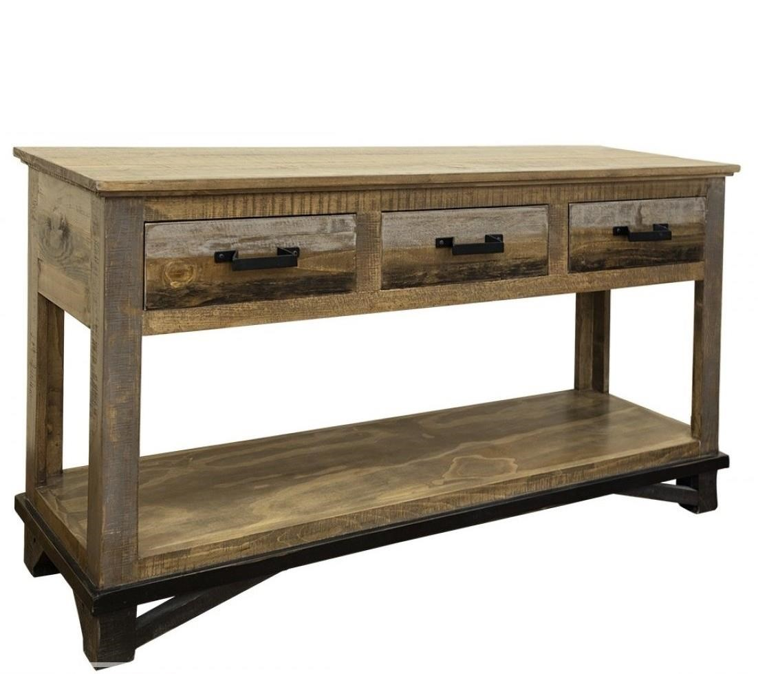Loft Sofa Table with 3 Drawers at Ruby Gordon Home