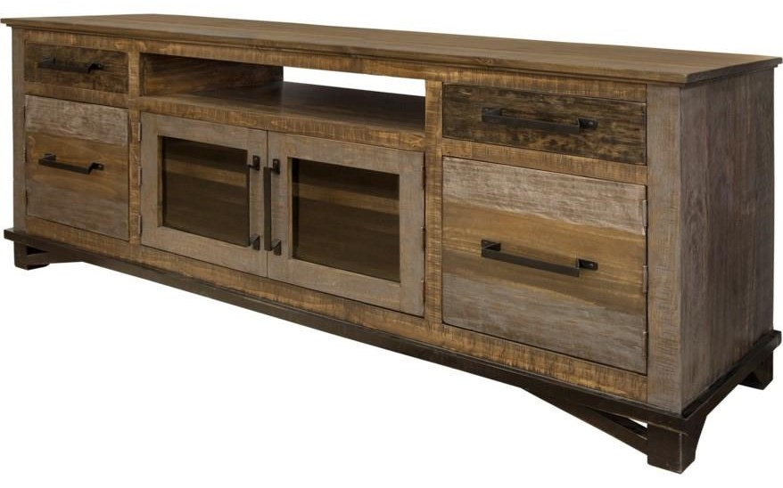 """Loft 76"""" TV CONSOLE by International Furniture Direct at Darvin Furniture"""