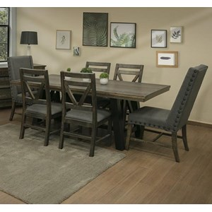 Rustic 7-Piece Table and Chair Set