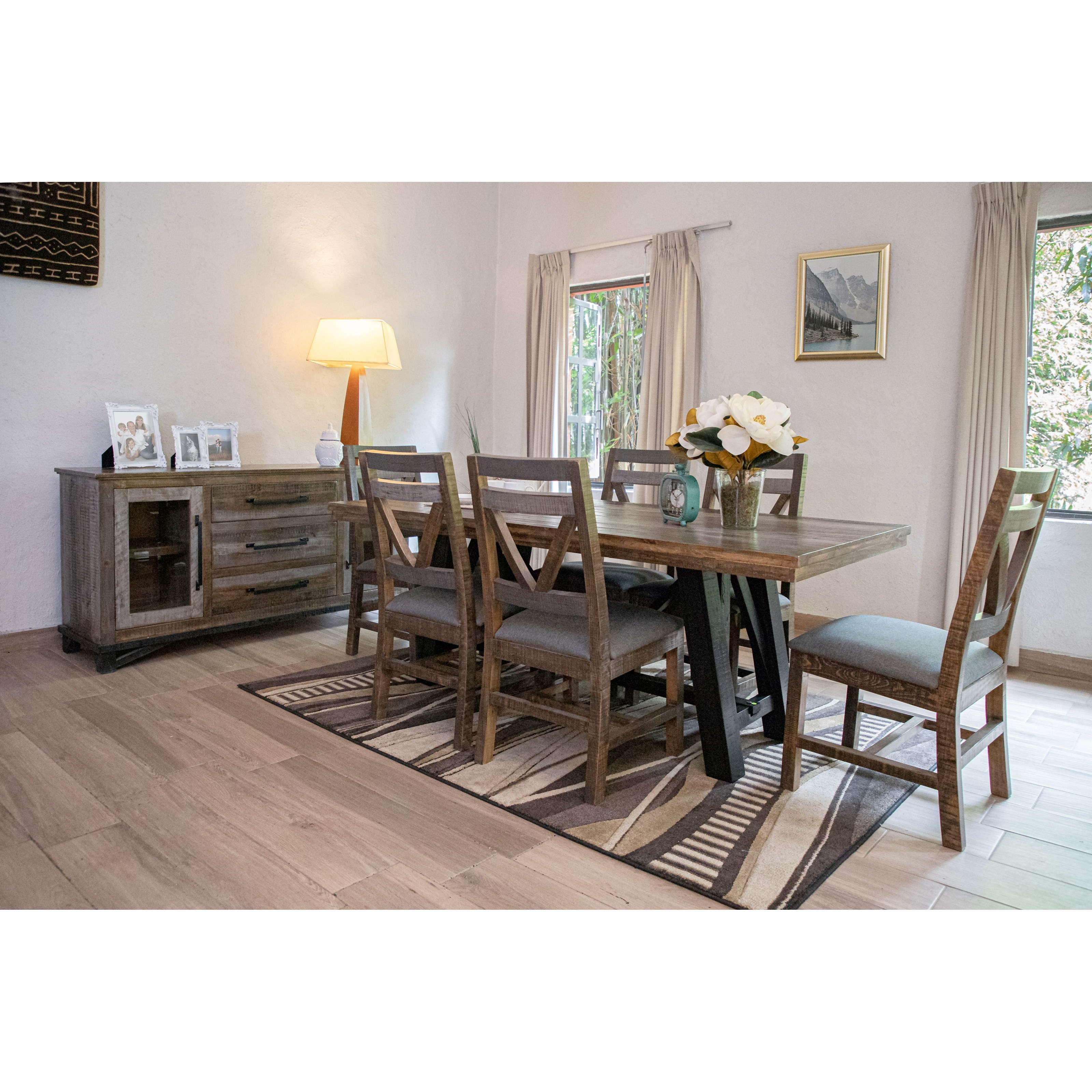 Loft Table and Chair Set by International Furniture Direct at Zak's Home