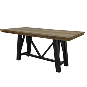 Rustic Two-Toned Counter Height Table