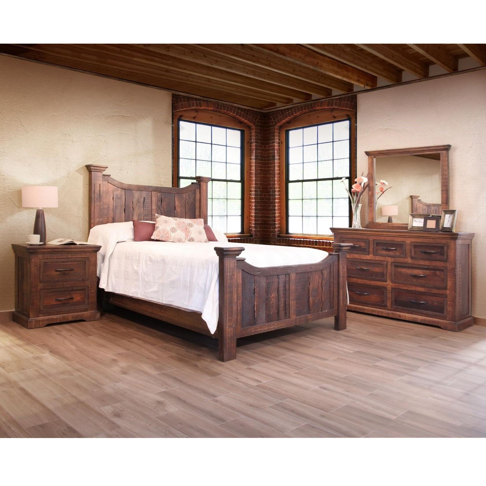 Madeira California King Bedroom Group by International Furniture Direct at Gill Brothers Furniture